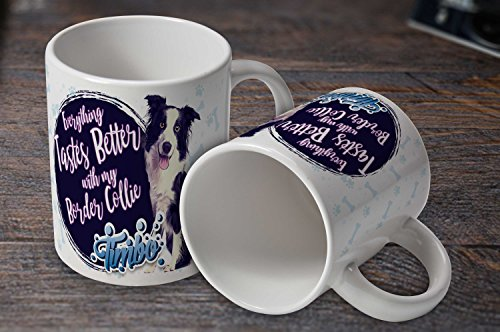 Personalised Dog Breed Mugs in 6oz or 11oz (11oz, Collie)